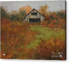 Country Autumn Acrylic Print by Linda Eades Blackburn