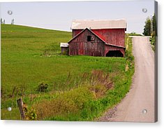 Country Barn Acrylic Print by April  Robert