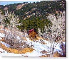 Acrylic Print featuring the photograph Country Barn by Shannon Harrington