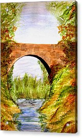 Country Bridge Acrylic Print by Paula Ayers