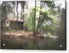 Country Cabin  Hdr - Artist Cris Hayes Acrylic Print by Cris Hayes