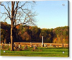 Country Cemetery Acrylic Print by Mike Stanfield