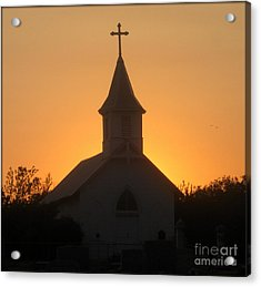 Country Church Acrylic Print by Kim Yarbrough