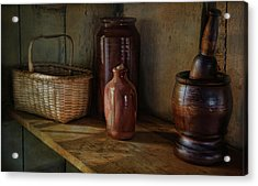 Country Cupboard Acrylic Print by Robin-Lee Vieira