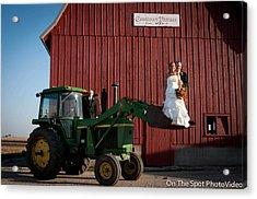 Country Farm Wedding Acrylic Print by Sidney Dumas