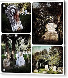 Country Graveyard Acrylic Print