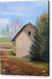 Acrylic Print featuring the pastel Country Journey by Cindy Plutnicki