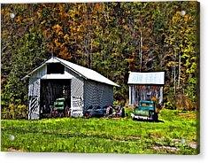 Country Life Acrylic Print by Steve Harrington