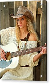 Country Musician Acrylic Print by Trudy Wilkerson