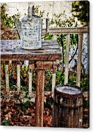 Country Porch Acrylic Print by Kathy Jennings