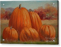 Country Pumpkins Acrylic Print by Linda Eades Blackburn