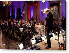 Country Singer Brad Paisley Performs Acrylic Print by Everett