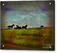 Country Wagon 2 Acrylic Print by Perry Webster