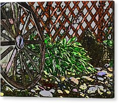 Country Wheel Working Acrylic Print by Debra     Vatalaro