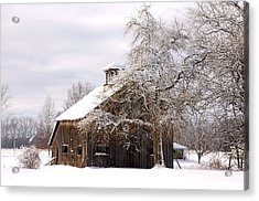 Country Winter Acrylic Print by Monica Lewis