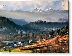 Countryside. Slovenia Acrylic Print by Juan Carlos Ferro Duque