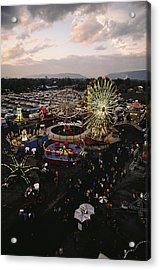 County Fair, Yakima Valley, Rides Acrylic Print by Sisse Brimberg
