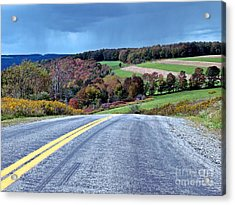 Acrylic Print featuring the photograph County Road by Christian Mattison