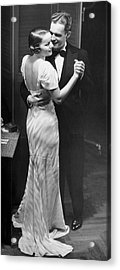 Couple Dancing In Evening Clothes Acrylic Print by George Marks