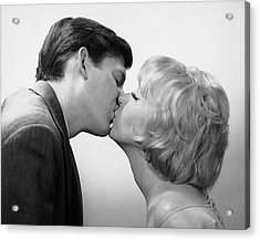 Couple Kissing Acrylic Print by George Marks