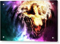 Courage Acrylic Print by Joe Cruz