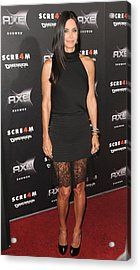 Courteney Cox Wearing The Row Acrylic Print by Everett