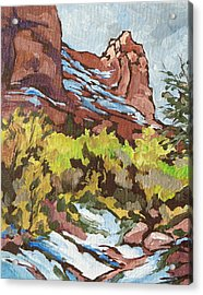 Courthouse Rock Acrylic Print by Sandy Tracey