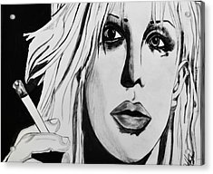 Courtney Love Acrylic Print by Cat Jackson