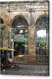 Courtyard Restaurant Trinidad Cuba Acrylic Print by Laurel Fredericks