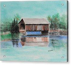 Covered Bridge Allegheny County Acrylic Print by Paul Cubeta