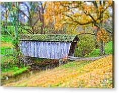 Covered Bridge Acrylic Print by Darren Fisher