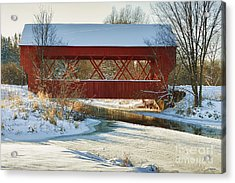 Acrylic Print featuring the photograph Covered Bridge by Eunice Gibb