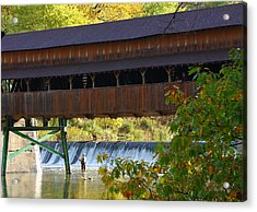 Covered Bridge Acrylic Print by Kevin Schrader