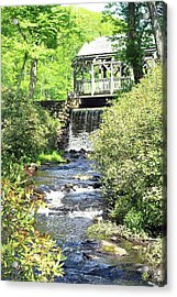 Covered Bridge Acrylic Print by Sara Walsh