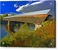 Acrylic Print featuring the photograph Covered Bridge by William Fields