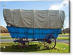 Covered Wagon Acrylic Print by Steve Harrington