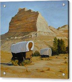 Covered Wagons Acrylic Print