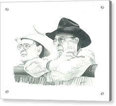 Cowboy Conversation Acrylic Print