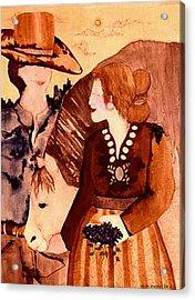 Cowboy Love Acrylic Print by Dede Shamel Davalos