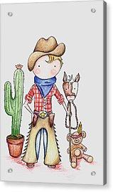 Cowboy Acrylic Print by Sarah LoCascio