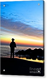Cowboy Sunrise Acrylic Print