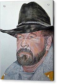Cowboy Up Acrylic Print by Ann Marie Chaffin