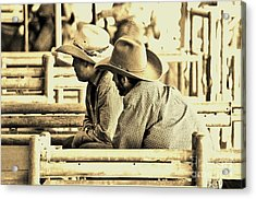 Cowboys Acrylic Print by Don Youngclaus