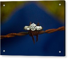 Cowgirl Engagement Ring 1 Acrylic Print by Douglas Barnett