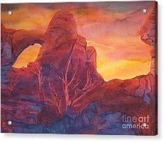 Coyote Dusk Acrylic Print by Vikki Wicks