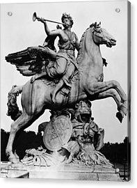 Coysevox: Fame And Pegasus Acrylic Print by Granger