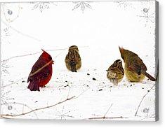 Cozy Family Acrylic Print