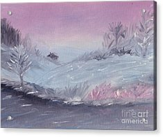 Cozy Winter Twilight Acrylic Print