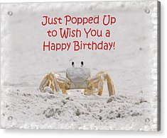 Crab Happy Birthday Acrylic Print