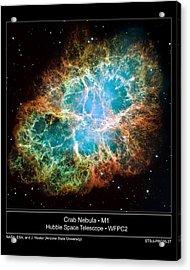 Crab Nebula - Hubble Sapce Telescope Acrylic Print by ilendra Vyas